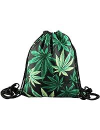Bolsa Black Weed Bag stringbag Cordón Gym Bolsa yute Bolsa de deporte bolsa de lavazio