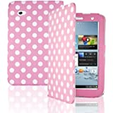 "Pink Polka Dots Printed Book Wallet Folio Case Cover Pu Leather Magnetic Stand For Samsung Galaxy Tab 2 P3110 / P3113 / P3100 7"" Inch Plus Free Screen Protector by Bestcases4u"