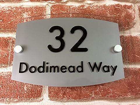 Plaque Plaque de maison personnalisée avec nom de rue et numéro de porte adresse Panneau de porte