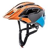 Cratoni Allride Sonderedition Mountainbikehelm Fahrradhelme All Mountain Helm (Orange-Schwarz-Blau)