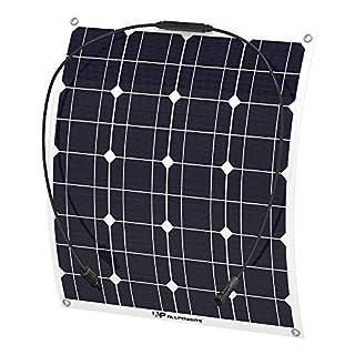 ALLPOWERS 18V 12V 50W Solar Panel Charger Waterproof for 12V Battery, RV, Camping, Caravan, Motorhome, Boat, Tent