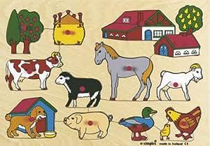 Dujardin - 36157 - Puzzle enfants - Simplex La Ferme