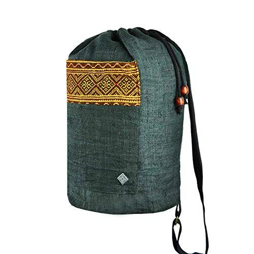 Le sac à dos ethnique de virblatt en 100 % chanvre sac sativa avec  décoration de 7bd61373b66
