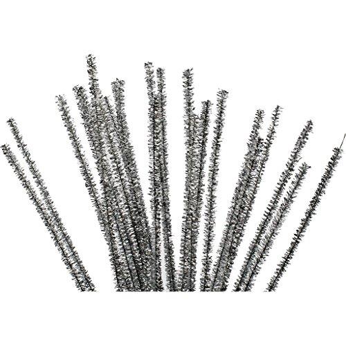 Lot de 24 nettoyeurs de tuyaux d'épaisseur 6 mm L 30 cm Argenté