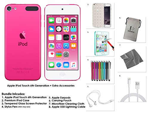 Apple iPod Touch 16GB - Pink  Extra Accessories, 6th Generation *NEW RELEASE July 2015*