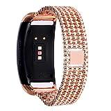 Bracelet à la mode, Fittingran pour Samsung Gear Fit 2Pro sangles, réglable en acier inoxydable, bracelet de rechange pour Samsung Gear Fit2 Pro fitness Or rose