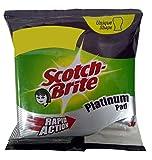 #4: Scotch-Brite Scrub Pad, Platinum, 3 Pieces Pack