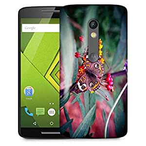 Snoogg Abstract Unique Butterfly Designer Protective Phone Back Case Cover For Moto G 3rd Generation