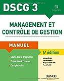 DSCG 3 - Management et contrôle de gestion - 4e éd. - Manuel