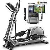 Sportstech LCX800 Vélo elliptique de avec Console Multifonction Android, Roue d'inertie de 24 kg, app pour Smartphone, Bluetooth, 12 programmes de d'entraînement, HRC et Porte-Tablette