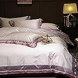 Vierteilige reihe von schleifen baumwoll-bettwäsche amerikanischen einfach 1.8m quilt decken haushaltsgegenstände-A 200x230cm(79x91inch)