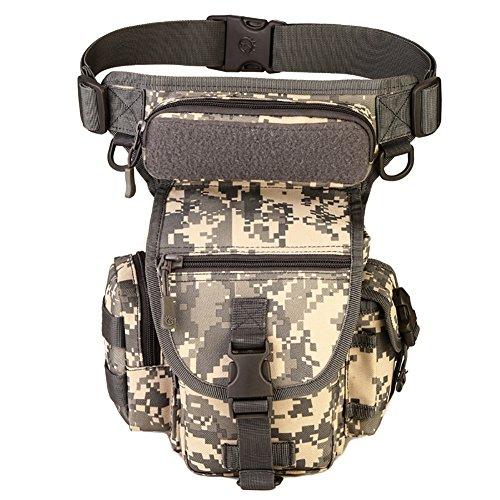 Reefa Outdoor Reisen Ausrüstung Angeln Package Beinbeutel Tasche B-Tarnung