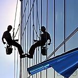 TipTopCarbon Fenster Spiegelfolie Blau Sichtschutzfolie 152cm Breite Fensterfolie Spion Design Folie Selbstklebend