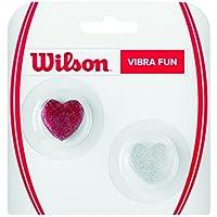 Wilson Vibra Fun Vibrationsdämpfer, für Tennisschläger, 2er Pack, rot/Silber, WRZ537100