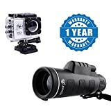 Drumstone Panda Single HD Telescope Outdoor Hiking Binocular with Hd 1080P Sports Camera & Waterproof Compatible with All Smartphones (One Year Warranty)