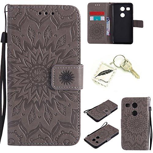 Preisvergleich Produktbild Silikonsoftshell PU Hülle für LG Nexus 5X (5,2 Zoll) Tasche Schutz Hülle Case Cover Etui Strass Schutz schutzhülle Bumper Schale Silicone case+Exquisite key chain X1) #AD (1)