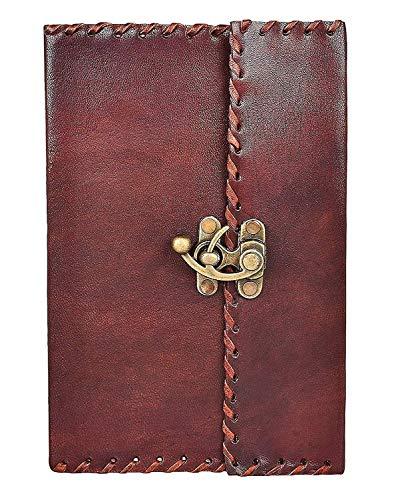 HONEY LEATHER EXPORTERS Honig Leder exporteure Handarbeit Vintage Antik Aussehende Echtem Leder Tagebuch Diary Notebook Geschenk für Herren Frauen Geschenk für Sie Ihn -