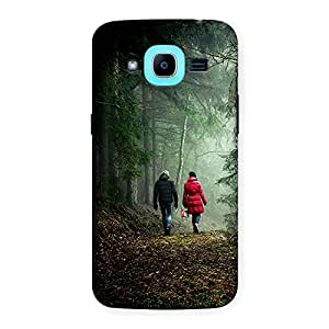 CrazyInk Premium 3D Back Cover for Samsung J2 Pro - Walking in Forest