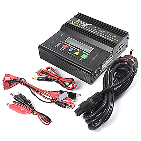 Balancing Battery Charger, ebuybox iMAX B6AC+ 50W Dual Power LiPo/Li-Ion/LiFe/NiMH/Nicad/PB Built-in AC Adapter Charger & Leads For RC Balancing Battery Charger & Discharger (Version 2) with 3 Pin UK Fused and moulded plug