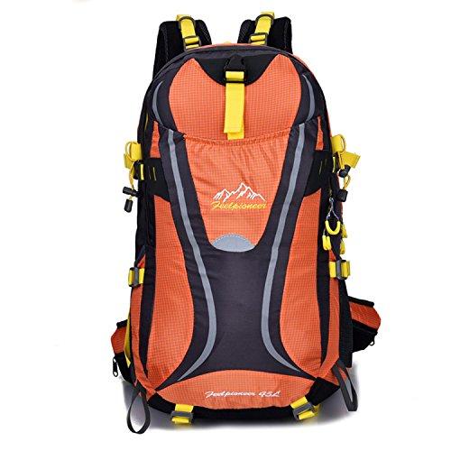 BYD - 45L Unisex Rucksäcke Im Freien Wandern Klettern Freizeit Trekkingrucksäcke Outdoor Taschen Radfahren Reiten Reisetaschen wasserdicht Backpack Orange