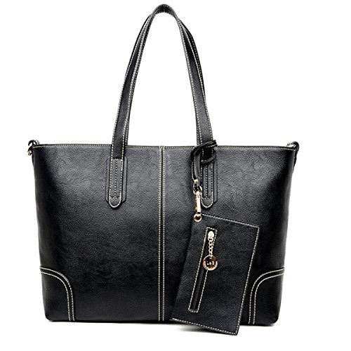Herbst-Influx Der Europäischen Und Amerikanischen Art- Und Weiseneuen Handtaschen-großen Beutel-einfacher Schulter-Beutel Black