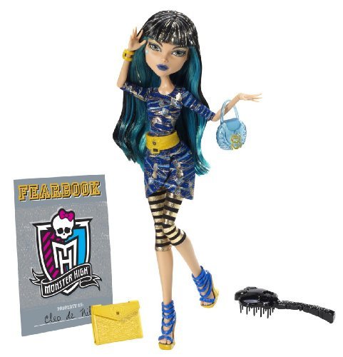 Mattel Monster High Y8500 -  Cleo de Nile, Puppe mit Jahrbuch (Monster High Kostüme Catty Noir)