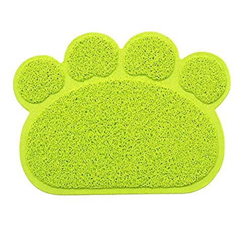 Ylen Paw Shaped PVC Cat Dog Mat Blanket Non-slip Pet Food Water Bowl Feeding Placemat