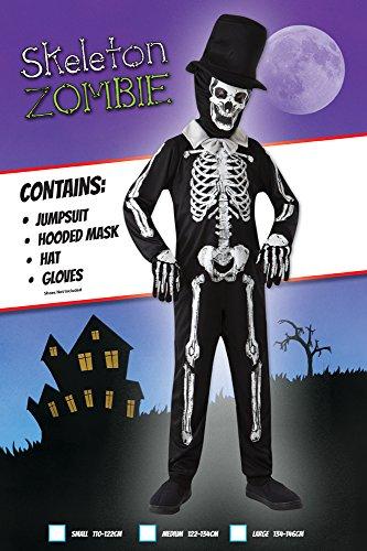 Imagen de esqueleto hueso zombie  halloween costume  niños disfraz  medium  122 a 134cm alternativa
