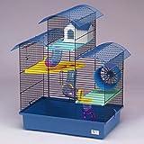 CTC-Trade | Hamsterkäfige Blau Außenmaße 54x38x64,5 Mäusekäfig Nager Hamster Plastik Kleintier Käfig mit Zubehör