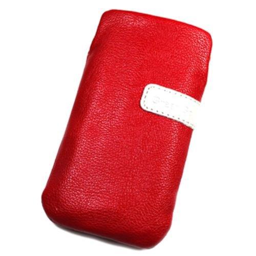 Schutzhülle Tasche Lederoptik rot für Huawei U8510Ideos X3