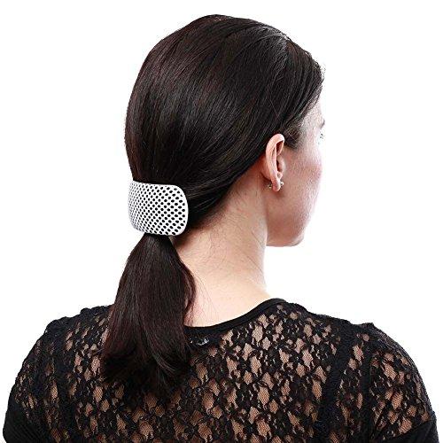 Rockabilly Haarspange Haarreif l Haarclip Haarschmuck mit Punkten l Kariert Schachbrettmuster l Größe 10x4,5 cm Einheitsgröße 100% Plastik l 3 er SPARPACK (84108-180-000)