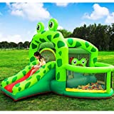 Combo Große Hüpfburg, Kinder Aufblasbare Trampolin Bounce House Frog Bouncy Haus Schloss Mit Luftgebläse Wasserrutsche - 5