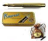 Kaweco Sport BRASS Füllhalter Messing mit goldener Feder B