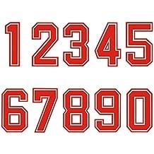 Números para planchar por transferencia de calor en camisetas deportivas, ...