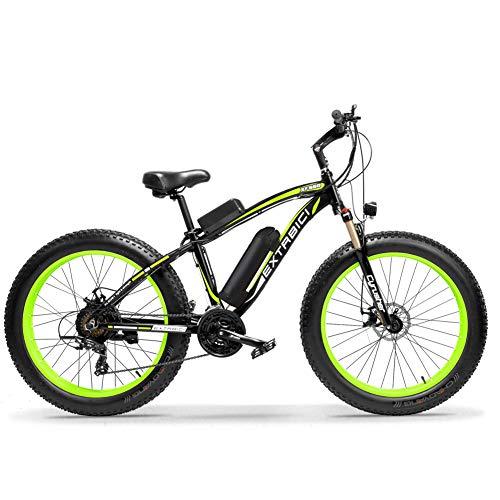 Extrbici XF660 500 W 48 V 10.4 Ah Bicicleta Eléctrica 26 'X4.0 Grasa Bicicleta Cruiser 7 velocidades...