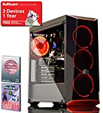 ADMI GAMING PC - AMD Ryzen 5 1500X Quad Core 3.7GHz CPU, GTX 1050 Ti 4GB Graphics Card, 8GB 2400MHz DDR4 RAM, A320M-K Motherboard, 1TB Hard Drive, Coolermaster Masterbox 5.1 Red Gaming PC Case