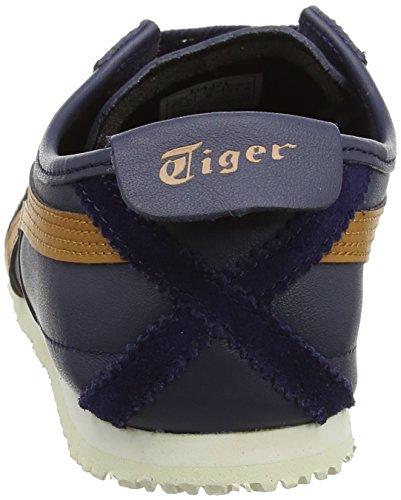 Onitsuka Tiger Mexico 66, Scarpe da Corsa Unisex-Adulto Multicolore (Peacoat/Honey Ginger)