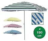 Gravidus Sonnenschirm Sonnenschutz Strand Garten Schirm rechteckig 120 x 180 cm