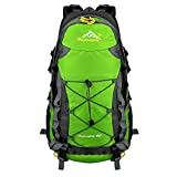 Vbiger Zaino Trekking 40 litri Resistente all'acqua per Trekking Alpinismo Escursionismo (Verde)