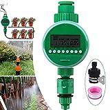 Jeteven Irrigatore Automatico Timer Irrigazione, Timer di Irrigazione Elettronico, Programmatore Irrigazione con LCD Display Digitale Timer Annaffiatur, per Giardino Serra Agricoltura Orto