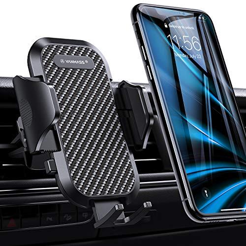 VANMASS Handyhalterung Auto Handyhalter fürs Auto Lüftung Bombenfest Vertikal & Horizontal mit Ausdehnbarer Halterfüße Universal für iPhone Samsung Huawei Oneplus und andere Smartphone [2019 Upgrade] Universal-horizontal-handy