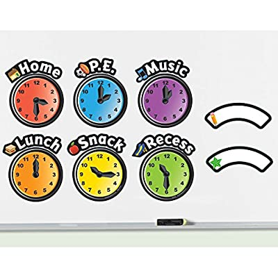 Learning Resources Magnetic Daily Schedule Clocks by Learning Resources