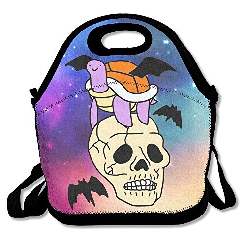Girls Boys Food Lunch Tote Skull Turtle Bat Picnic School Work Portable Reusable Handbag Bags Boxes Lunchbox Outdoor Totes -