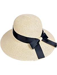EINSKEY Sombrero Paja Mujer de Verano de ala Ancha Sombrero de Playa  Plegable 26ae3f46dbd