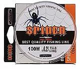 ishowstore Nylon MONOFILE ANGELSCHNUR Gewinde Spule 100m, Spider grey