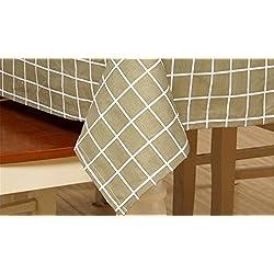 XIAOMEIXI Estilo moderno tela escocesa de algodón Mantel de tela Cubierta de mesa para el comedor Sala de la familia Decoración de sobremesa Tamaños múltiples , 140*180cm