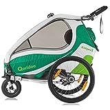 Qeridoo KidGoo 2 Fahrradanhänger 2017 - 2 Kinder, Farbvariante:grün