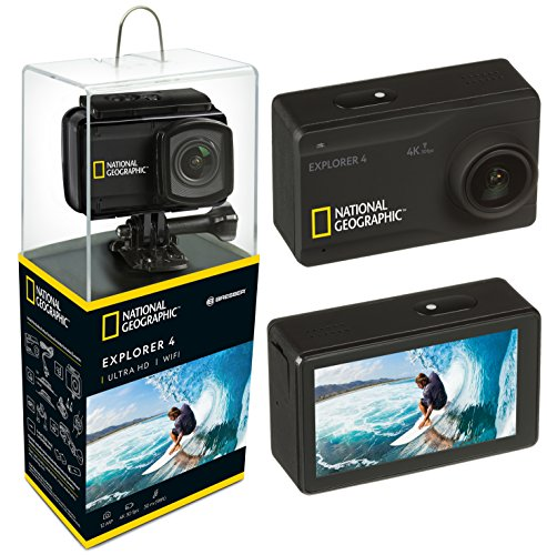 National Geographic Action Cam Explorer 4 4K Ultra HD 30 FPS 170°, WLAN, 2.45