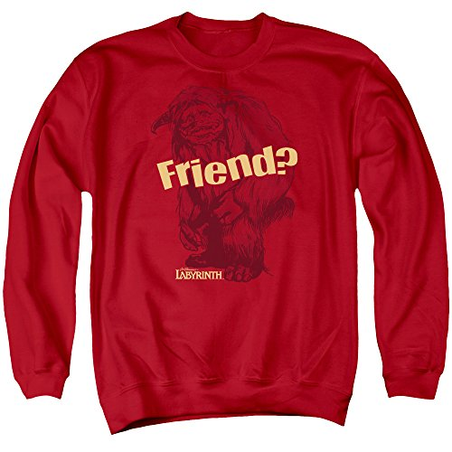 2Bhip Labyrinth Movie Ludo Friend Adult Crewneck Sweatshirt