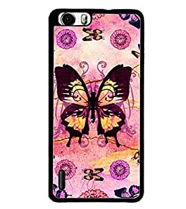 Printvisa Assorted Butterfly Pattern Back Case Cover for Huawei Honor 6